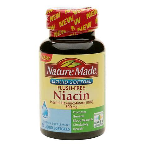 supplement niacin nature made flush free niacin 500 mg dietary supplement