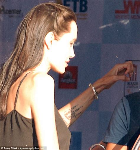 angelina jolie tattoo interview angelina jolie pitt reveals symbolic new tattoo at the