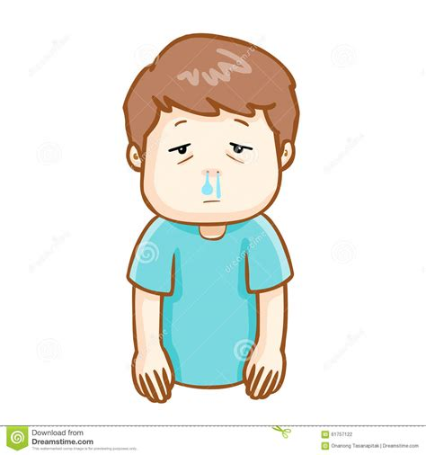 has a runny nose cold clipart runny nose pencil and in color cold clipart runny nose