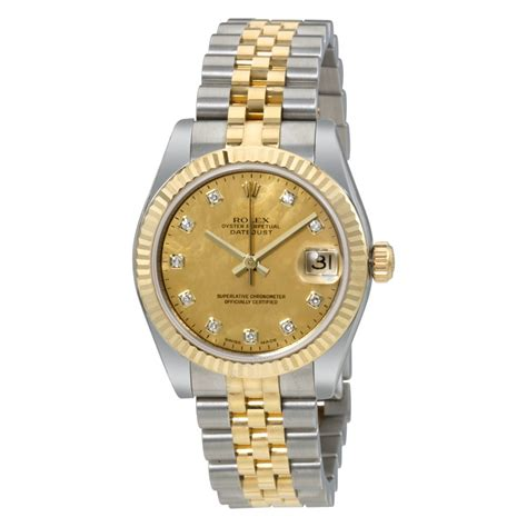 rolex oyster perpetual datejust 18 carat yellow gold