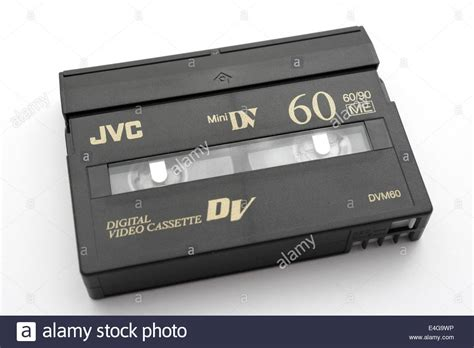 cassette minidv mini dv digital cassette by jvc stock photo royalty
