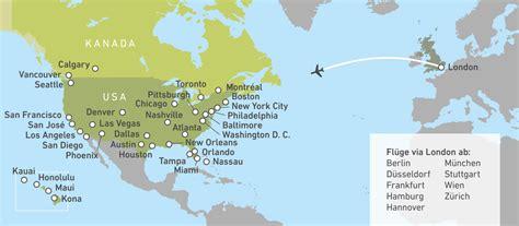 Flug Nach by Mit Airways Nach Nordamerika Canusa