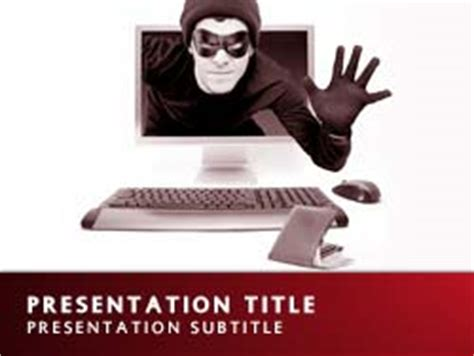 Royalty Free Cyber Crime Powerpoint Template In Red Cyber Crime Ppt Templates Free