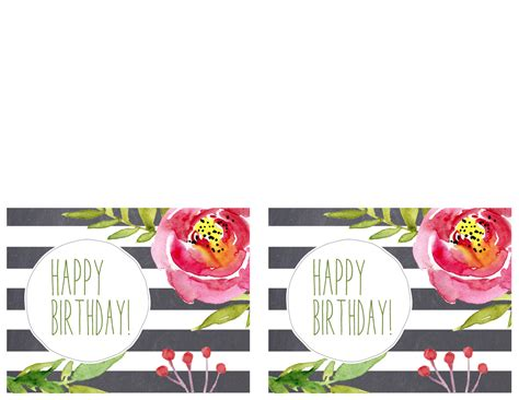 trec birthday card template best of printable birthday cards templates design