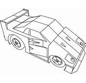 Cartoon Ferrari F40 Coloring Page  Wecoloringpagecom