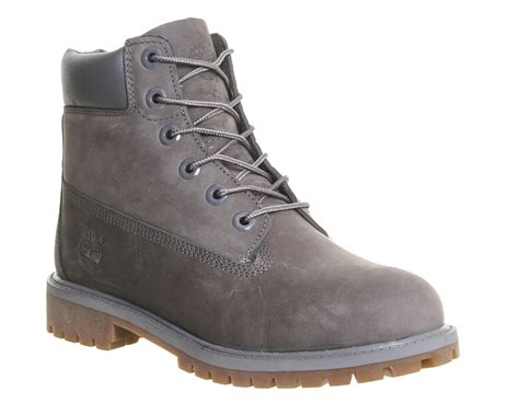 gray timberland boots timberland juniors 6 quot premium waterproof boots in gray