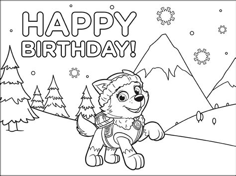 coloring pages of everest from paw patrol everest paw patrol coloring lesson kids coloring page