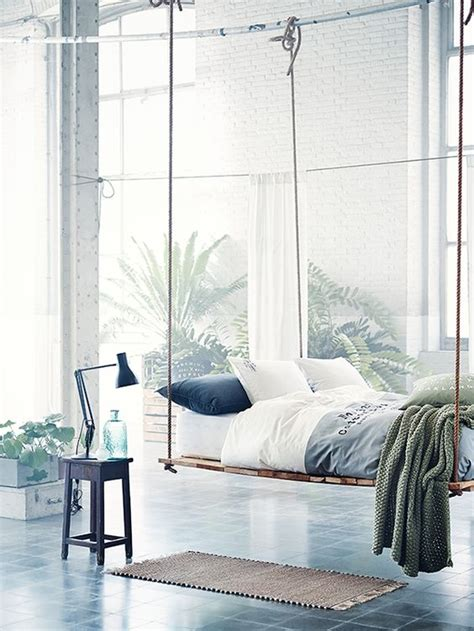 Hanging Upholstered Headboard by The Coolest Hanging Furniture That Everybody Deserves To