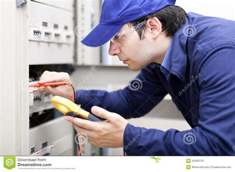 professional electrician at work stock photo image 43393743
