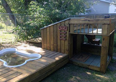 Another Fine Exle Of A Cool Dog House With A Swimming Pool Animals D