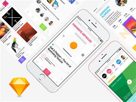 home design social network social network app design 5 free screens for sketch