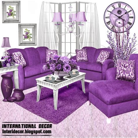 Living Room Decoration Sets Luxury Purple Furniture Sets Sofas Chairs For Living Room Interior Designs