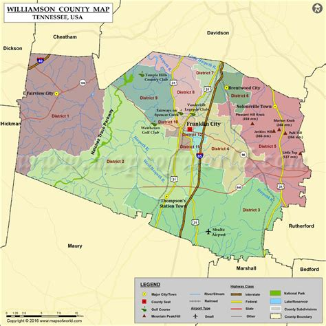 Williamson County Property Records Tn Williamson County Map My
