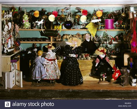 the doll house toy store toys dolls dollhouse toy store manufactured 19th century stock photo royalty free