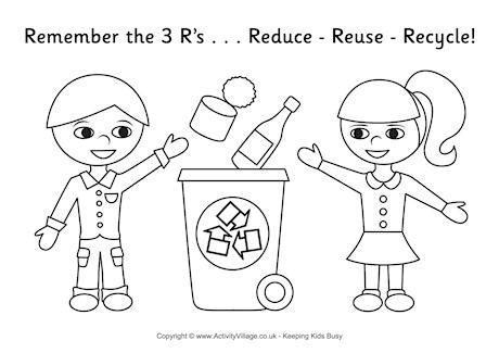 recycle coloring pages preschool 6 best images of paper recycling worksheet page