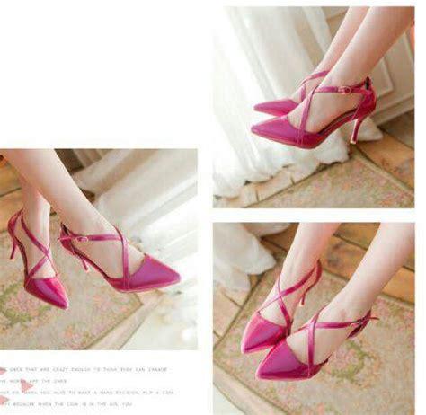 Sepatu Balet Warna Pink sepatu high heels terbaru warna pink cantik