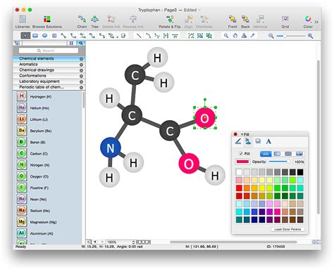 Chem Structure Drawer by Draw Chemistry Structures Conceptdraw Helpdesk