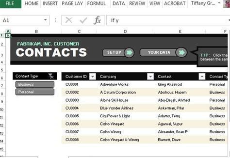 Customer Contact List Template For Excel Phone Template Maker