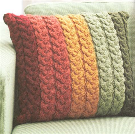 what can i knit chunky wool cable cushion knitting pattern 16 quot knit in