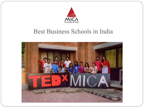 Top Mba Schools 2014 In India by Ppt Pursue Career With Mica The Best Mba Institutes