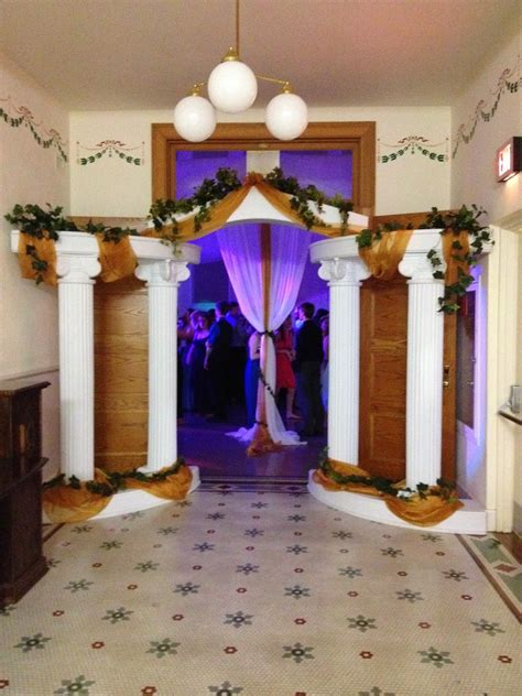 party people event decorating company greek theme prom
