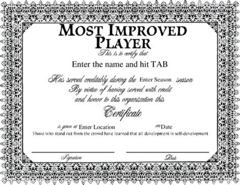 Delighted most improved certificate template pictures inspiration netball certificate template free choice image certificate yadclub Gallery