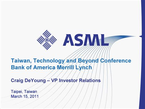 bank of america investor relations taiwan technology and beyond conferencebank of america