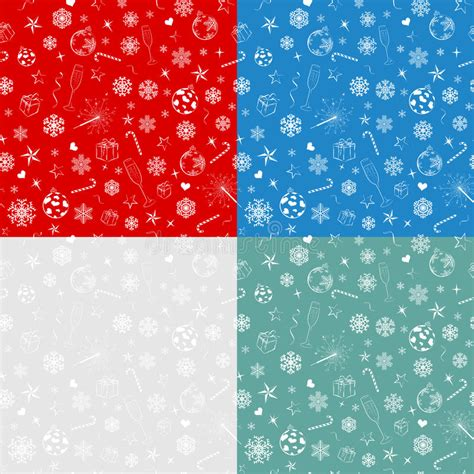 seamless pattern pale gray turquoise curls seamless patterns from christmas symbols stock image