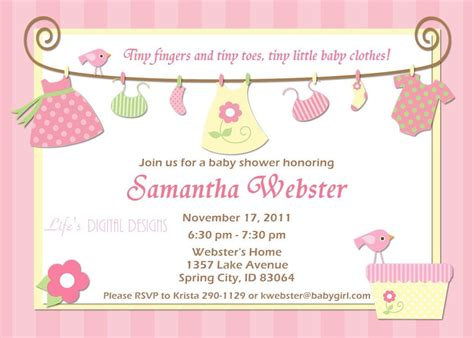 Baby Shower Invitaitons by Birthday Invitations Baby Shower Invitations