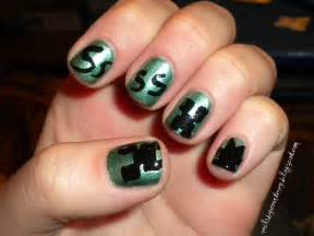 an amateur s nail obsession video game nails minecraft