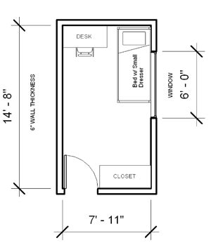 room measurments parks tower layout