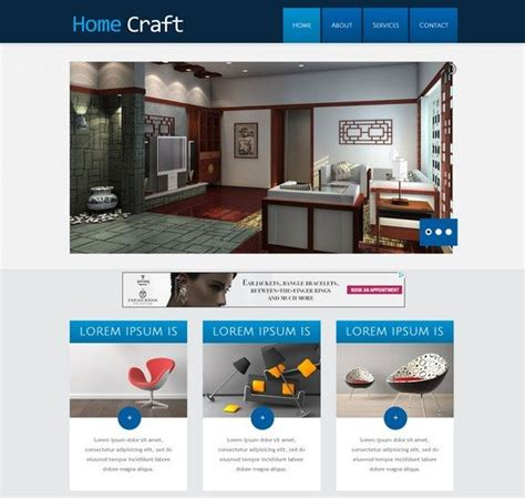 Home Interior Website 55 Interior Design Furniture Website Templates Free