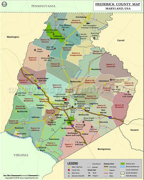 maryland map frederick county frederick county map maryland swimnova
