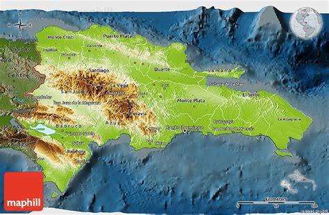 physical map of republic physical 3d map of republic darken