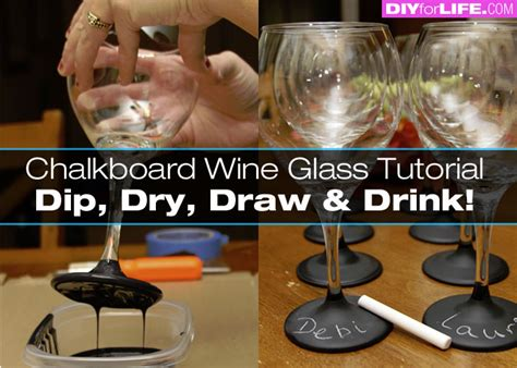 diy chalk paint glasses wine glasses dipped in chalkboard paint diy for