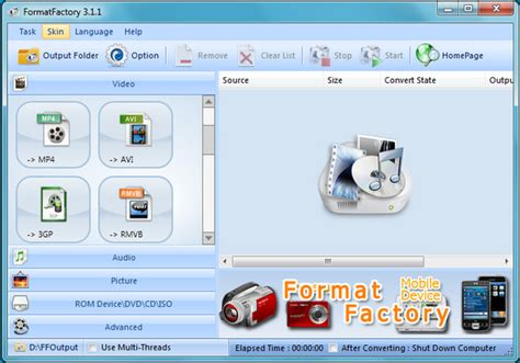 convert video to wmv by format factory download best software to convert between all video