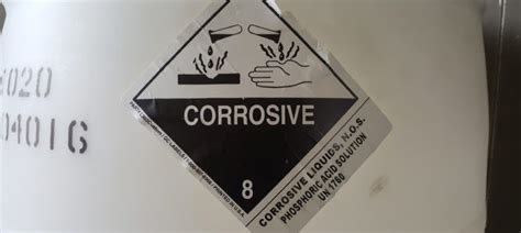 take determination of packing for a class 8 corrosive services