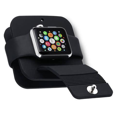 Silicone Holder Charging Wallet Dock Station Apple 38mm 42mm portable charging wallet for apple series 1 2 soft silicone charge holder stand charging