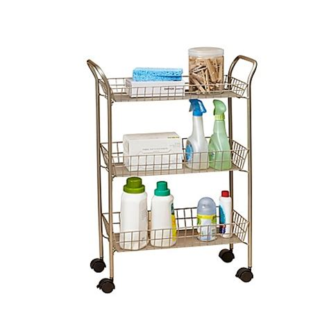 rolling bathroom cart 3 tier rolling bath cart with locking wheels in matte