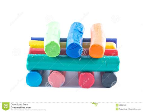 colorful clay colorful modeling clay stock photo image 47552556