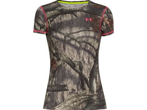 womens mossy oak shirts armour s evo heatgear crew shirt mpn 1237118 905 m