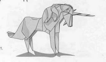 Origami Unicorn Diagram - unicorn origami paper origami guide