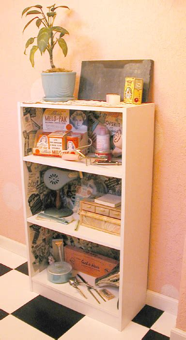 Decoupage Shelves - retro salon decoupage shelf by erin tinney