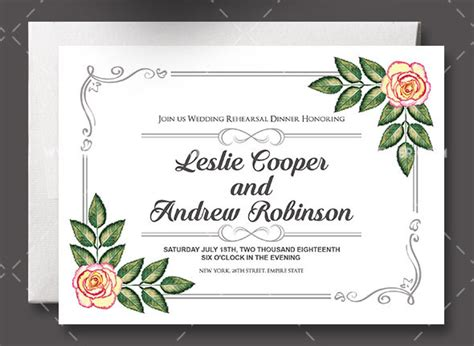 psd invitation templates wedding invitations templates free psd mini bridal