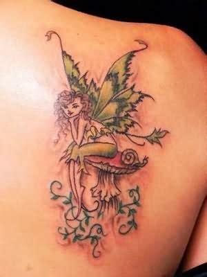 sitting fairy tattoo designs alone sitting
