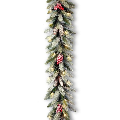 garland with lights martha stewart living 9 ft winslow artificial garland