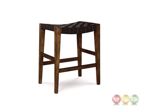 black leather bar stools counter height echo park woven black leather 24 quot birch counter height stool