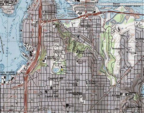 seattle map topo capitol hill volunteer park seattle