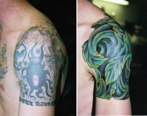 tattoo cover up that won t rub off on clothes 15 exles of ugly tattoos being made awesome with cover ups