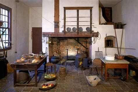 Kitchen On George History Colonial Cooking Report On Colonial America